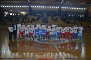le due squadre a centrocampo con la maglia dell'ANPPI