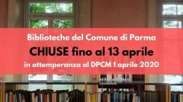 Biblioteche Comunale chiuse sito 13 aprile